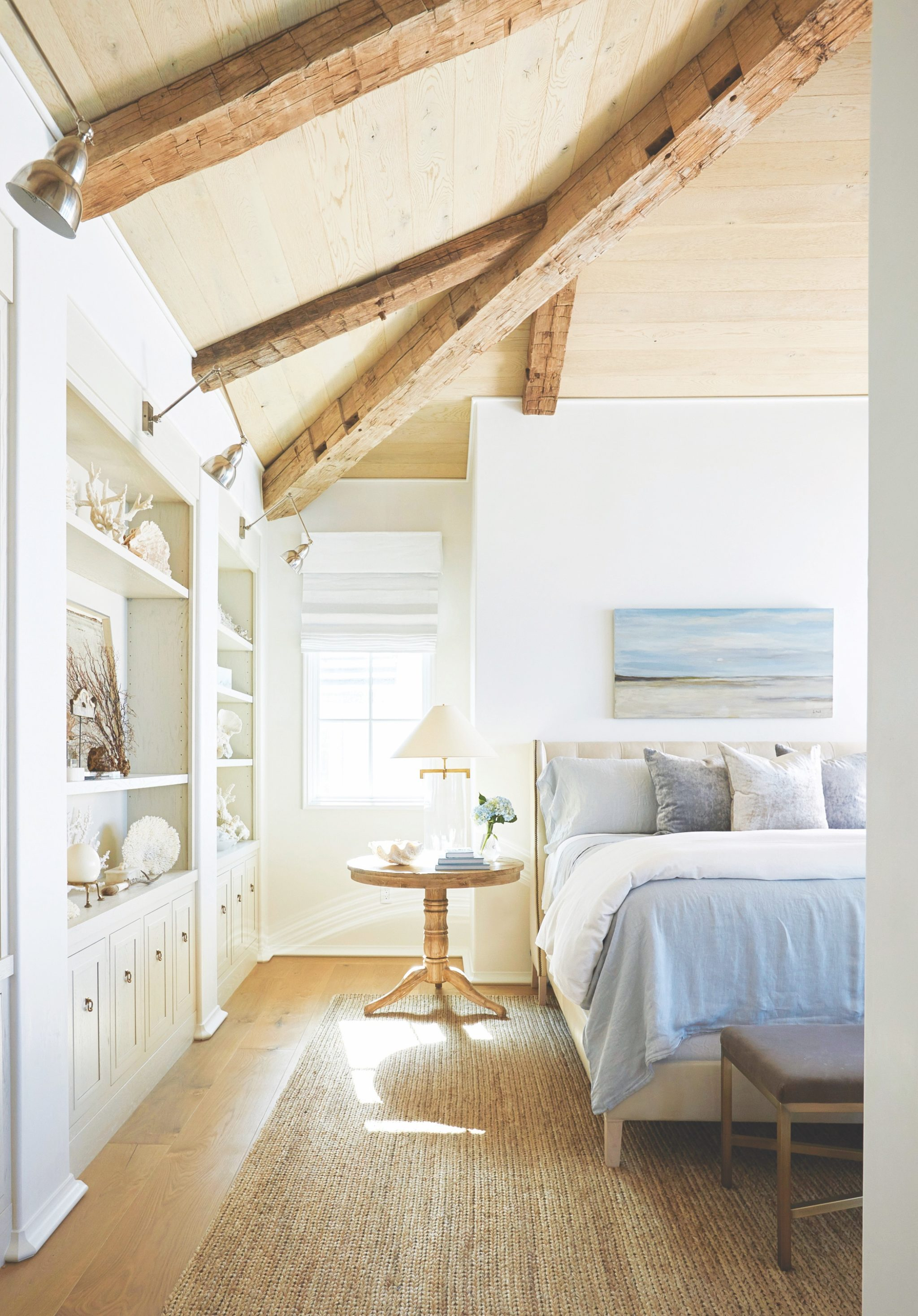 A serene bedroom oasis in The Retreat neighborhood of Blue Mountain Beach, Florida, designed by Holly Shipman