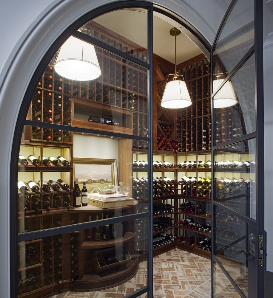 Glass cased wine cellar shot by Richard Leo Johnson