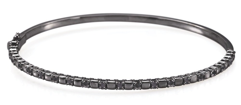 Andver Black Bangle Diamonds Bracelet