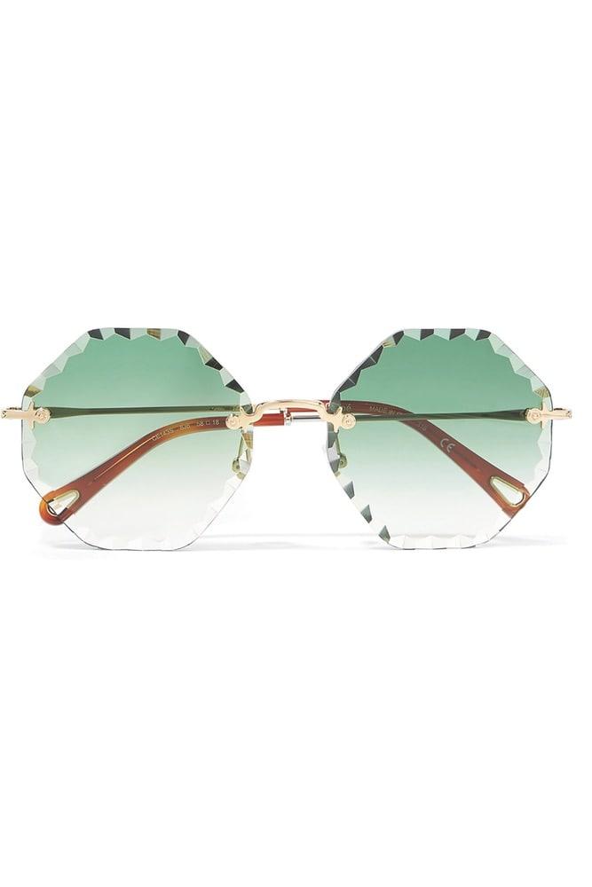 Chloé Rosie Octagon-Frame Gold-Tone Sunglasses, net a porter