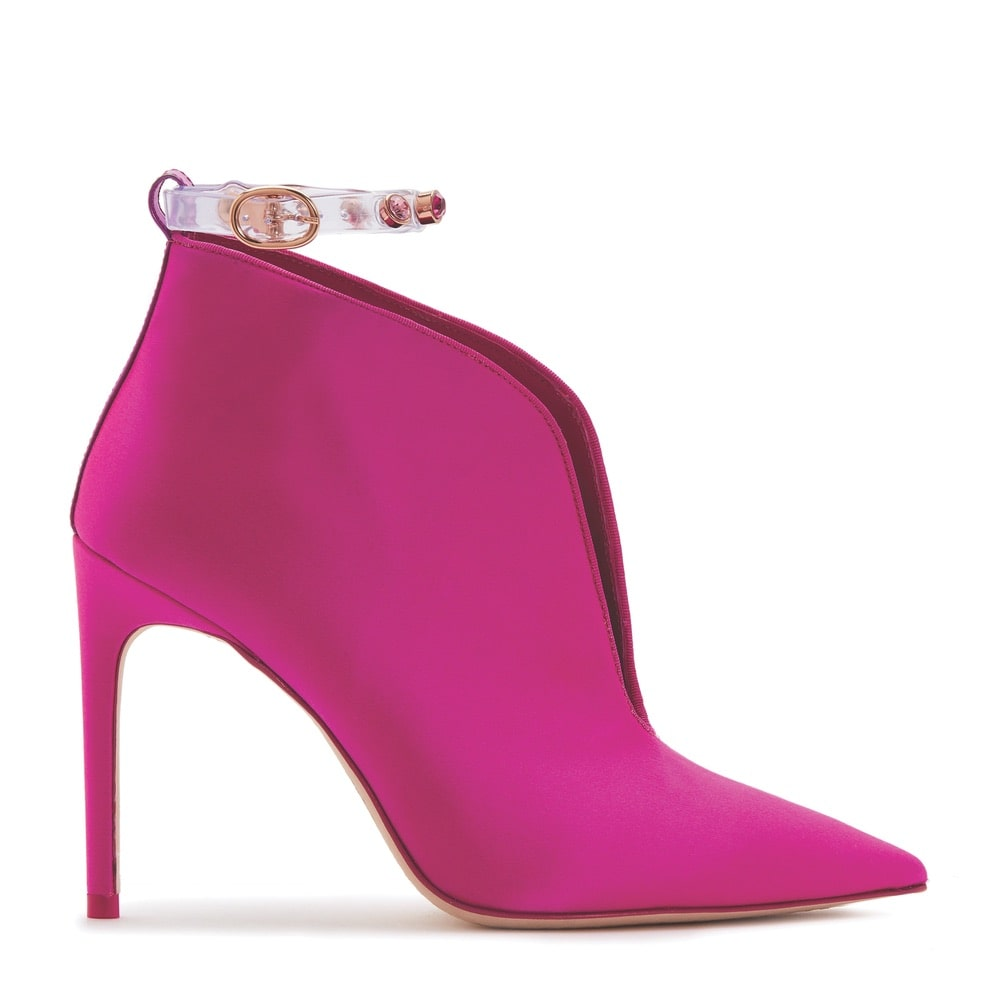 Sophia Webster Dina Boots in Fuchsia Satin