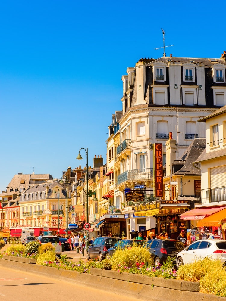 Architecture of Trouville, Normandy, France. Trouville is a village of fishermen and a popular tourist attraction in Normandy