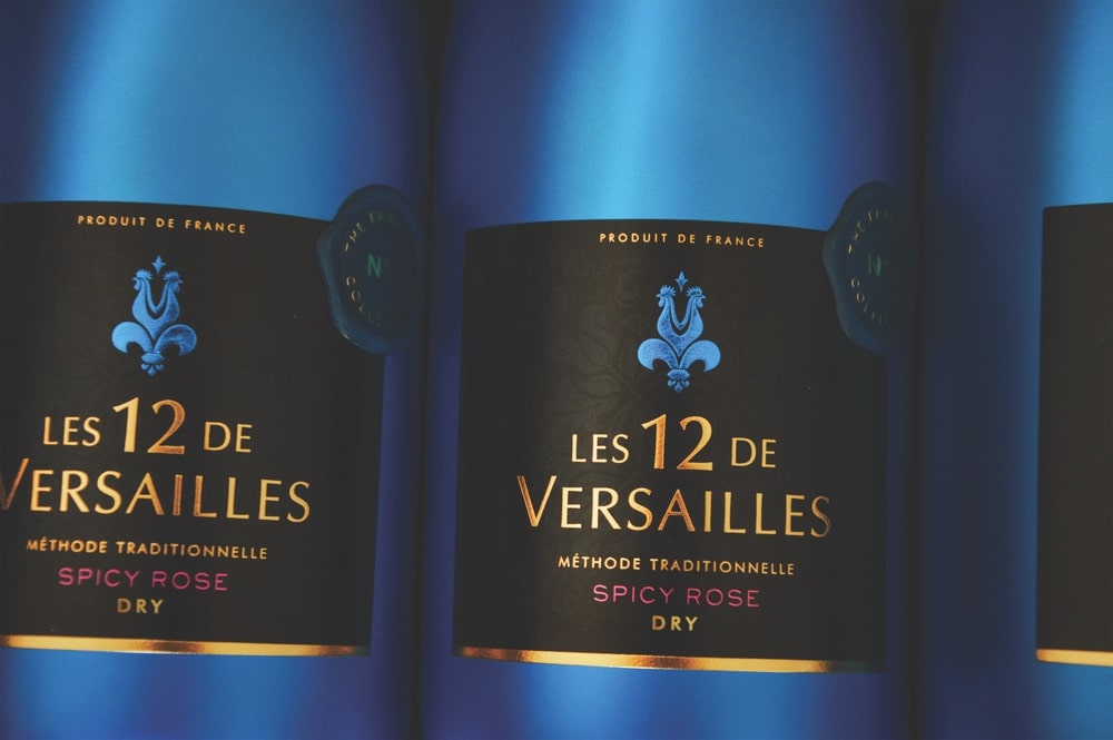 Spicy Rose sparkling wine by Les 12 de Versailles