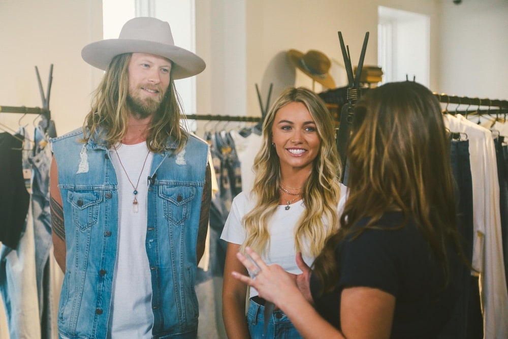 Brittany and Brian Kelley of Florida Georgia Line's clothing brand, Tribe Kelley, Tribe Kelley Trading Post