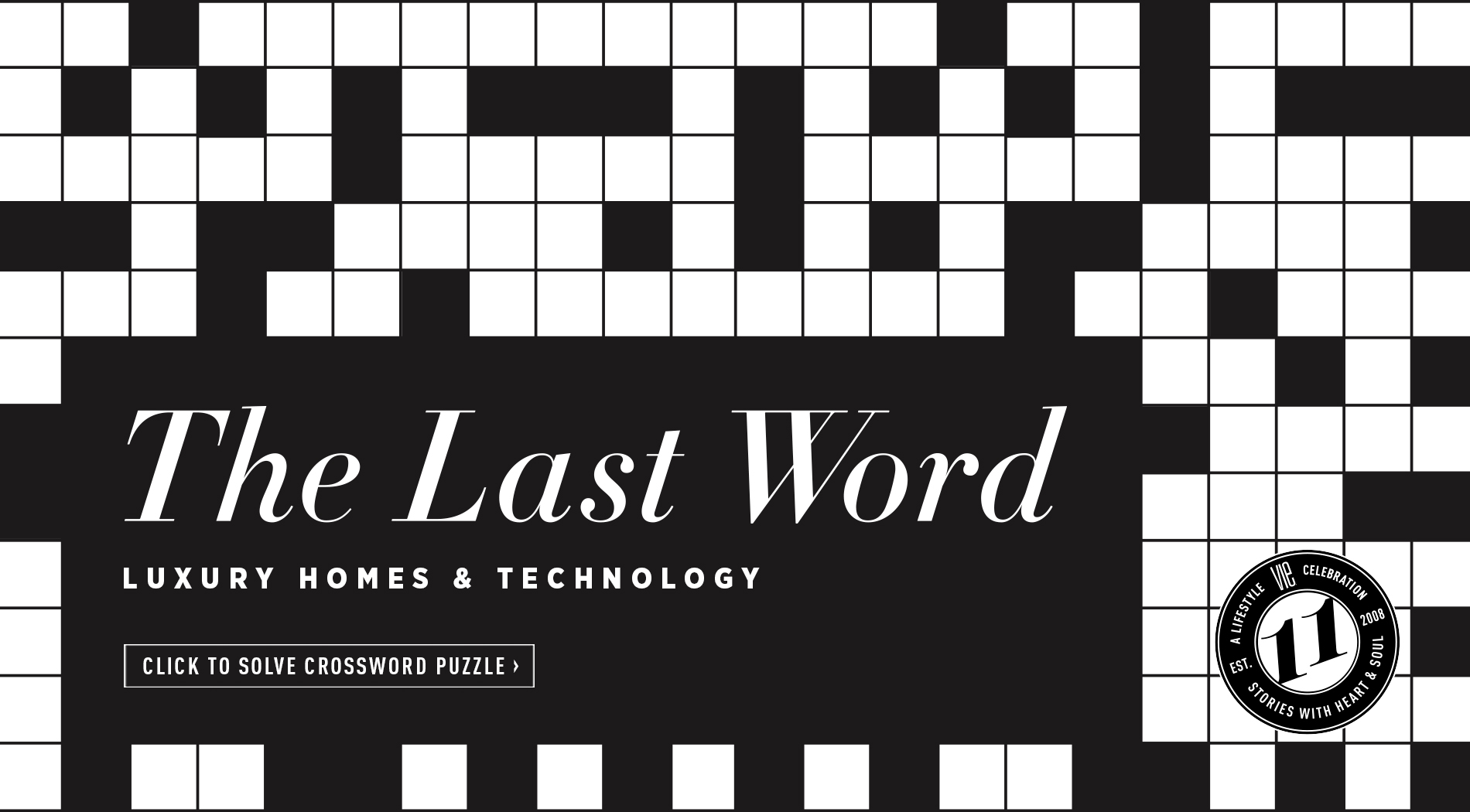 VIE Magazine February 2019 Luxury Homes & Technology Issue - Crossword Puzzle