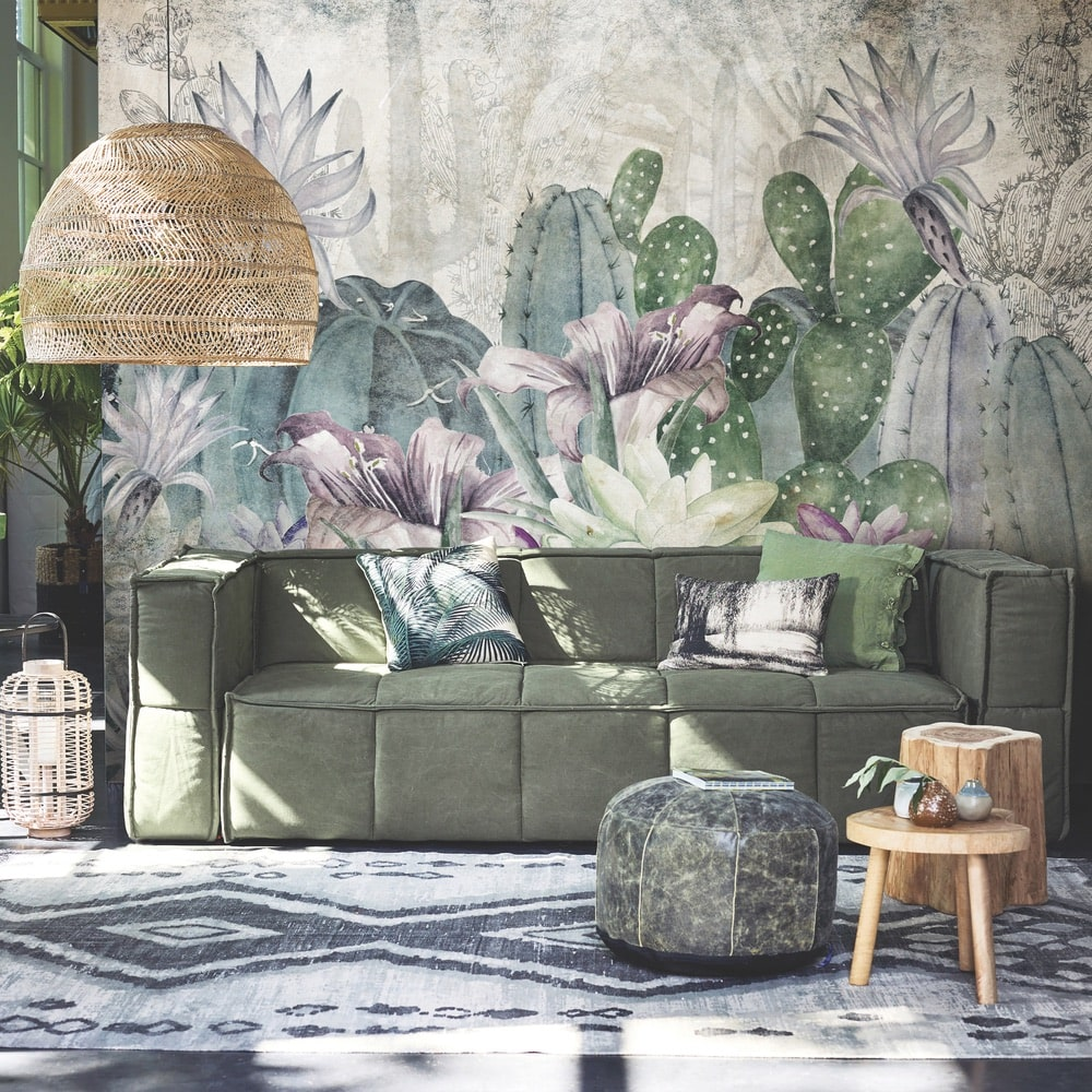 """Pink Arizona"" mural design from the 2018 Skinwall Dream Wallpaper collection"