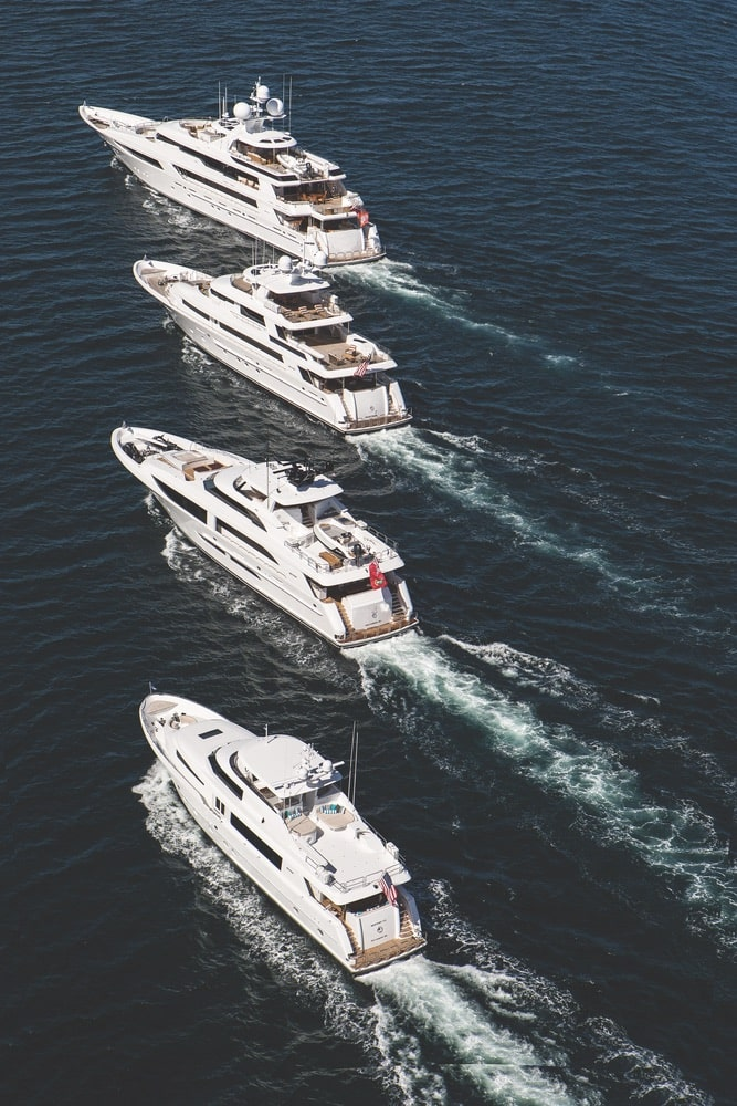 The impressive Westport series of yachts includes sizes ranging from thirty-four to fifty meters, with customizable amenities to meet any owner's needs.