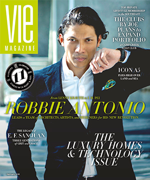 VIE Magazine February 2019 Luxury Homes & Technology Issue with Robbie Antonio of Revolution Precrafted