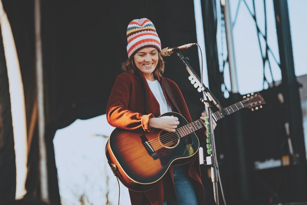 Brandi Carlile performs as Sunday's headliner at 30A Songwriters Festival in Grand Boulevard