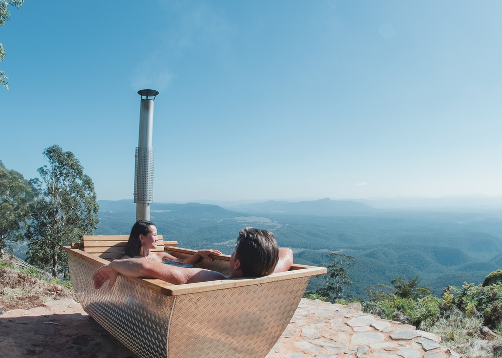 Bubbletent Australia offers a relaxing Swedish wood-fired alfresco bathing experience. | Photo courtesy of Bubbletent Australia