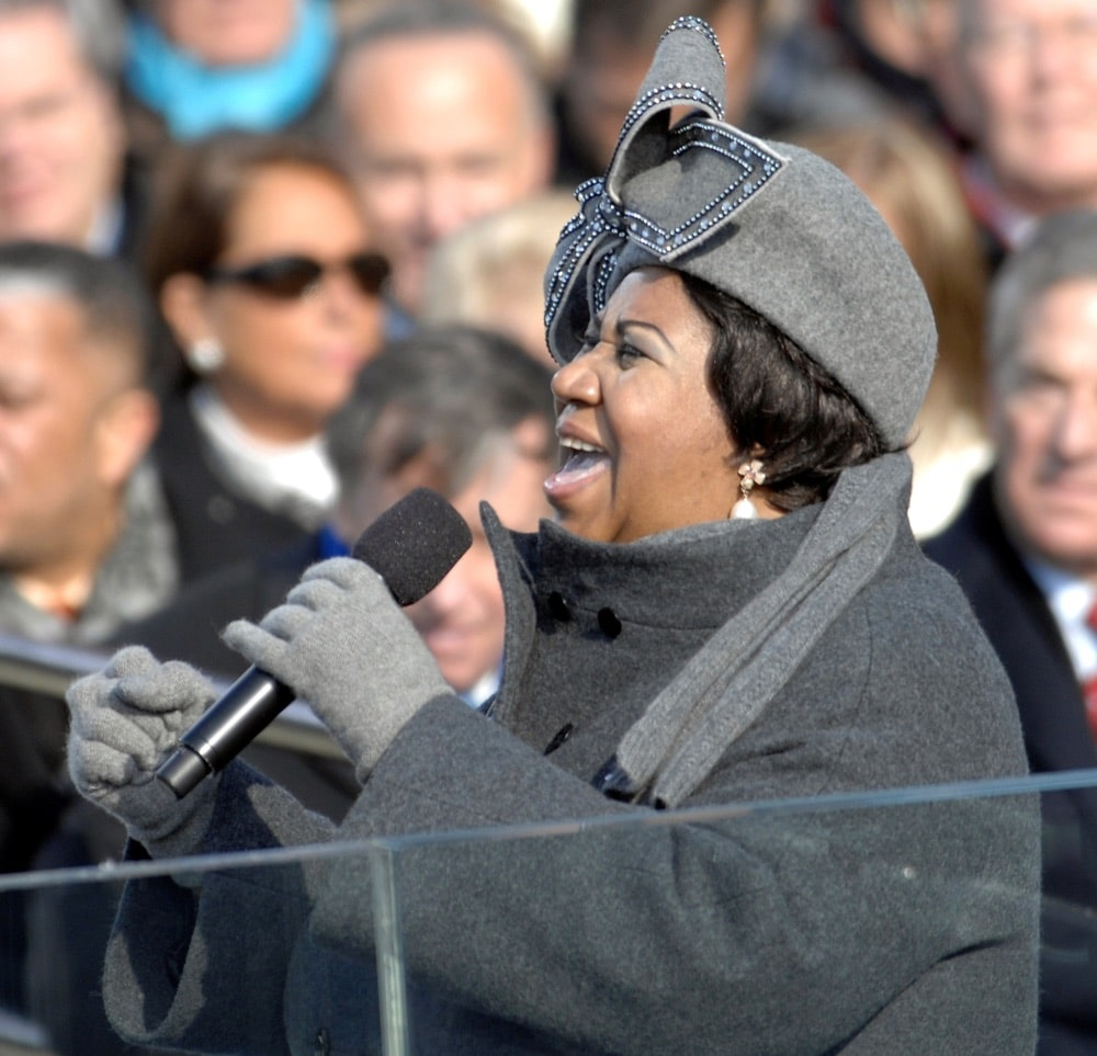 Aretha Franklin performs during the 56th presidential inauguration in Washington, D.C.
