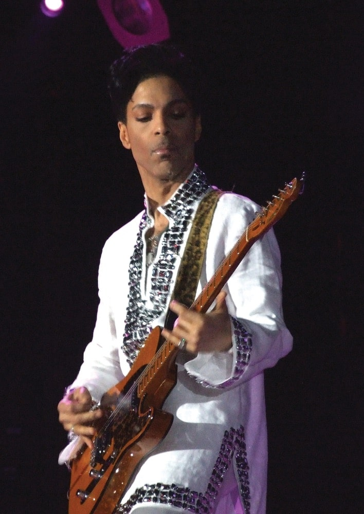 Prince performing at Coachella, 2008