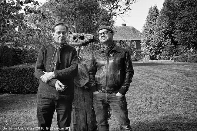 John Brockliss and Alex Johnson at Farleys Garden Sussex England 2018