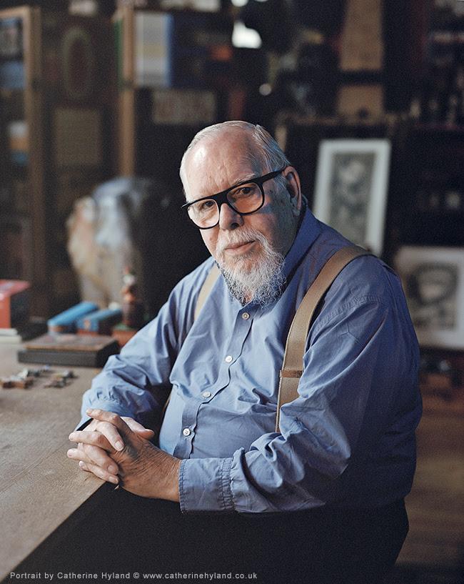 Sir Peter Blake portrait Farleys House and Gallery UK 2019