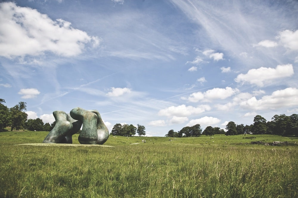 Sculpture by Henry Moore—part of his Open Air Bronze Collection at Yorkshire Sculpture Park | Photo by Andrew Marshall