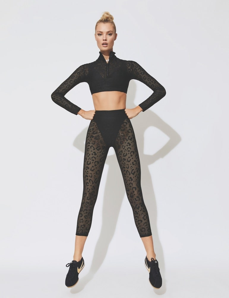 Carbon38 Adam Selman Sport Long-Sleeve Crop Top and French-Cut Leggings