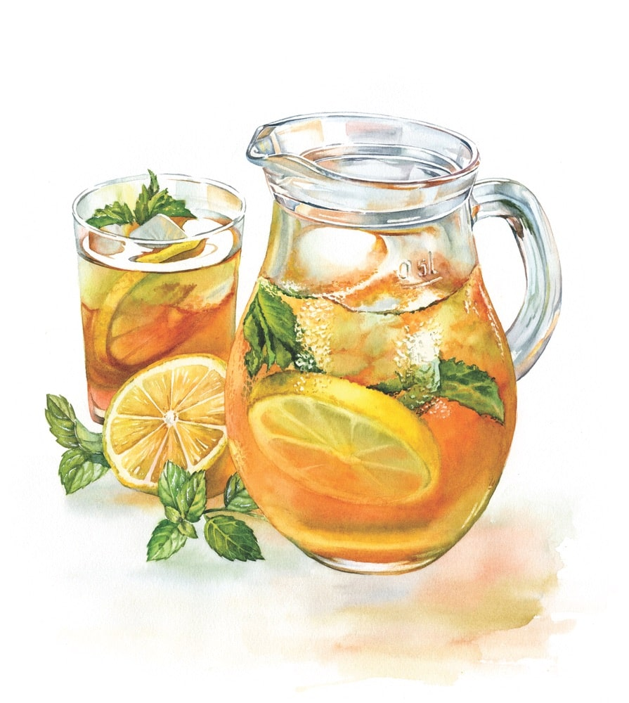 sweet tea illustration