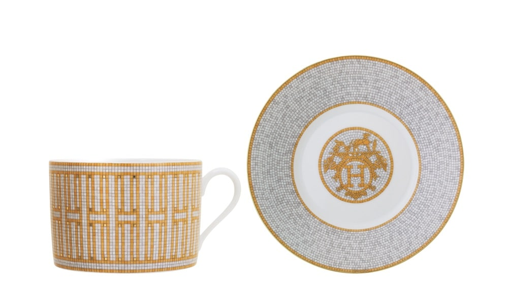 Kneen & Co. Hermès Mosaique au 24 Gold Dinnerware Collection