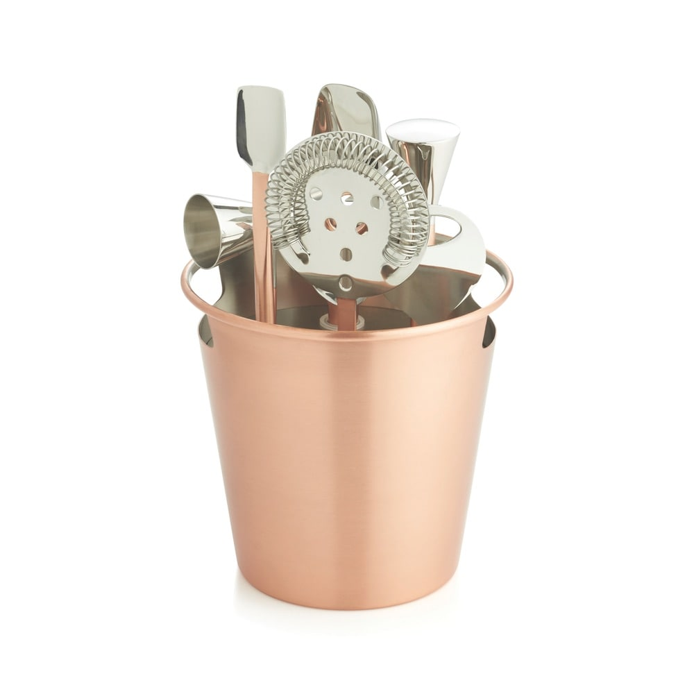 Crate & Barrel Bar Tool Set in Copper