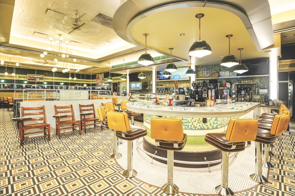 The retro-inspired interior of Goody Goody in Tampa, Gonzmart Restaurant Group