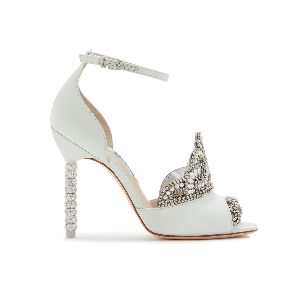 Sophia Webster Royalty Wedding Sandal with Crown Detail