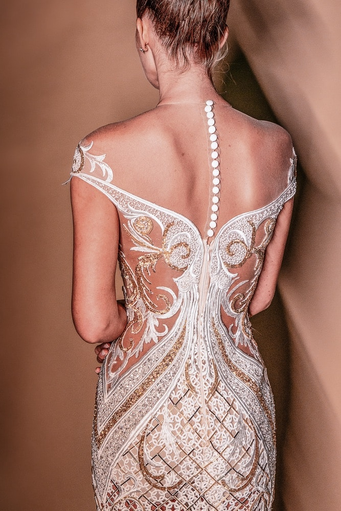 Elie Youssef's elegant hand-beaded designs are available through private appointment at the brand's retailers in Miami and Beirut. Learn more and schedule a visit at ElieYoussef.com.