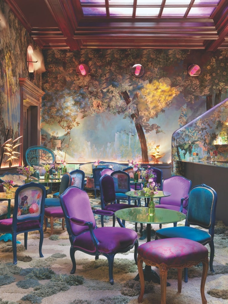 Sketch, known as a chic yet quirky dining and lounge destination in London's Mayfair neighborhood, made a perfect venue for designer Ryan Lo's breezy, ultrafeminine fashions. | Photography courtesy of Ryan Lo and Sketch London