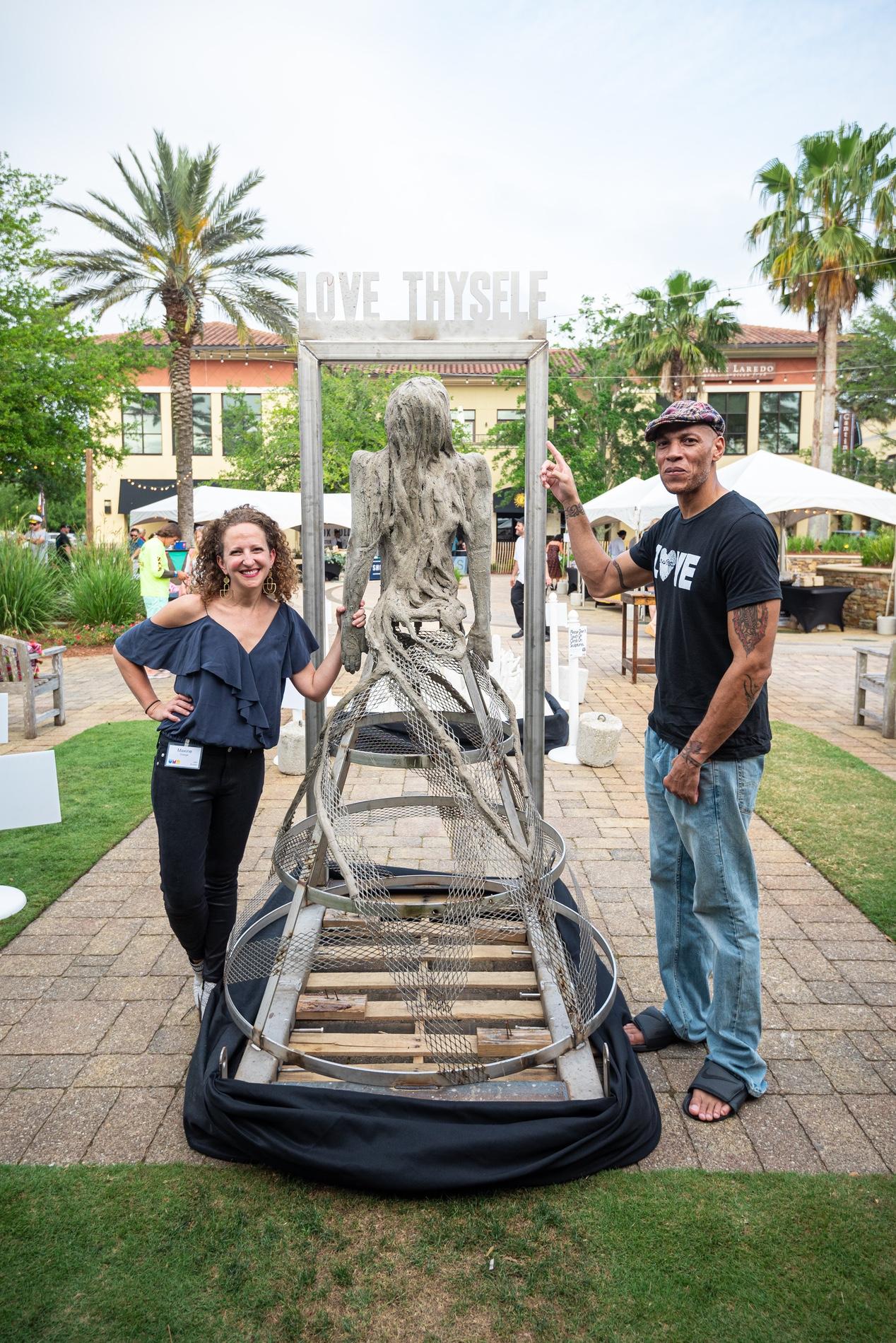 Underwater Museum of Art event 2019 Miramar Beach FL Maxine Orange Maurice Hunter