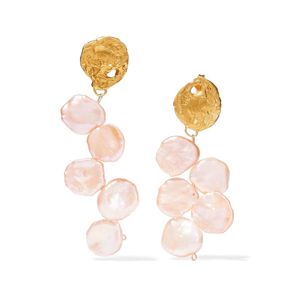 Alighieri Gold-Plated Pearl Earrings