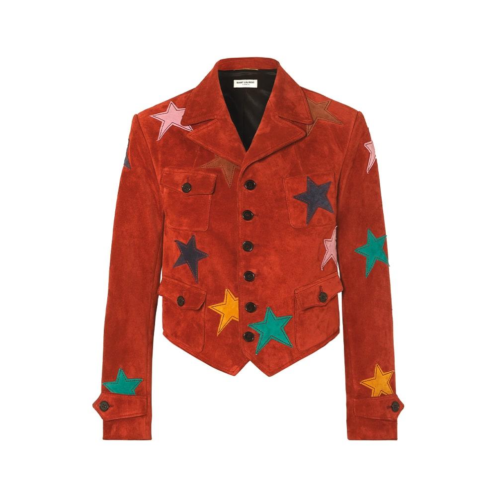 Saint Laurent Appliquéd Suede Jacket