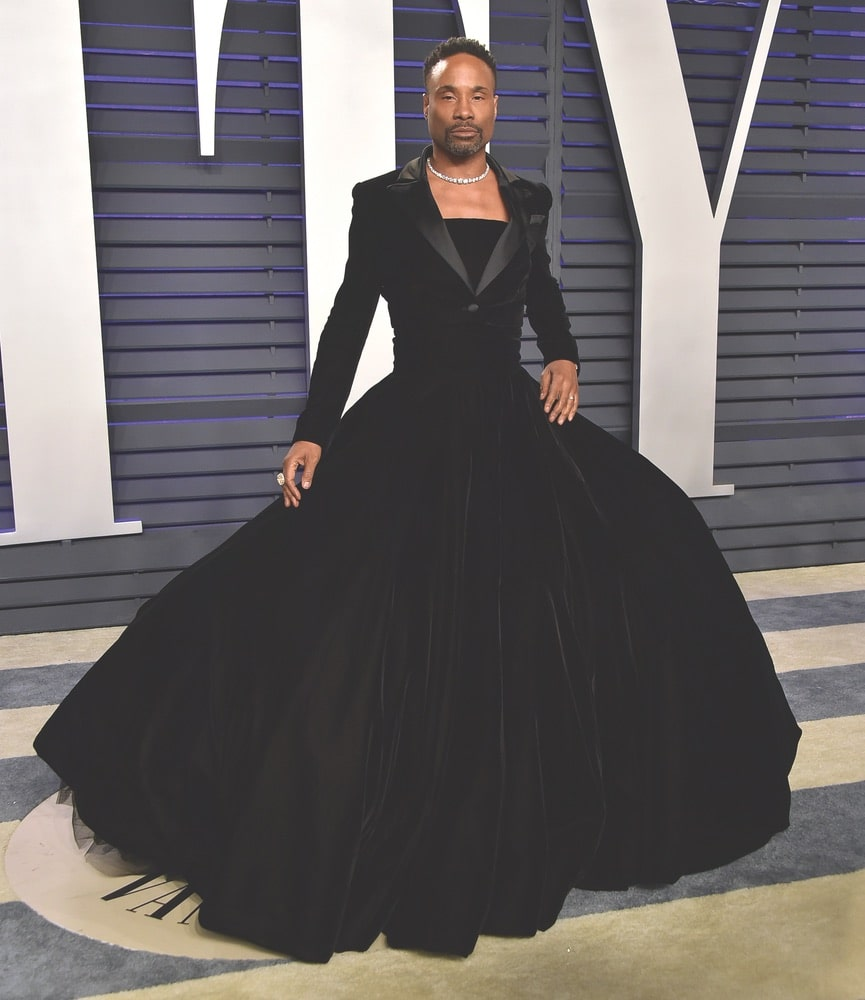 Billy Porter in custom Christian Siriano at the 2019 Vanity Fair Oscar Party