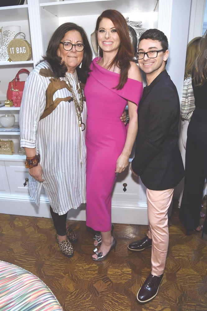 Fern Mallis and Debra Messing join Christian Siriano at The Curated NYC grand opening