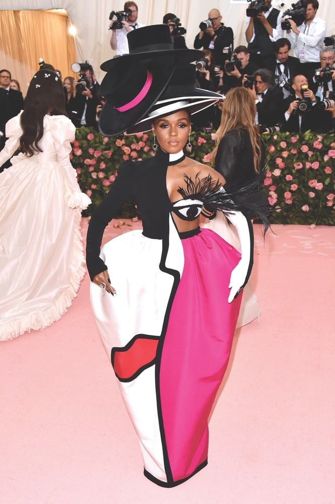 Janelle Monáe rocks a custom look by Christian Siriano at the 2019 Met Gala in New York City