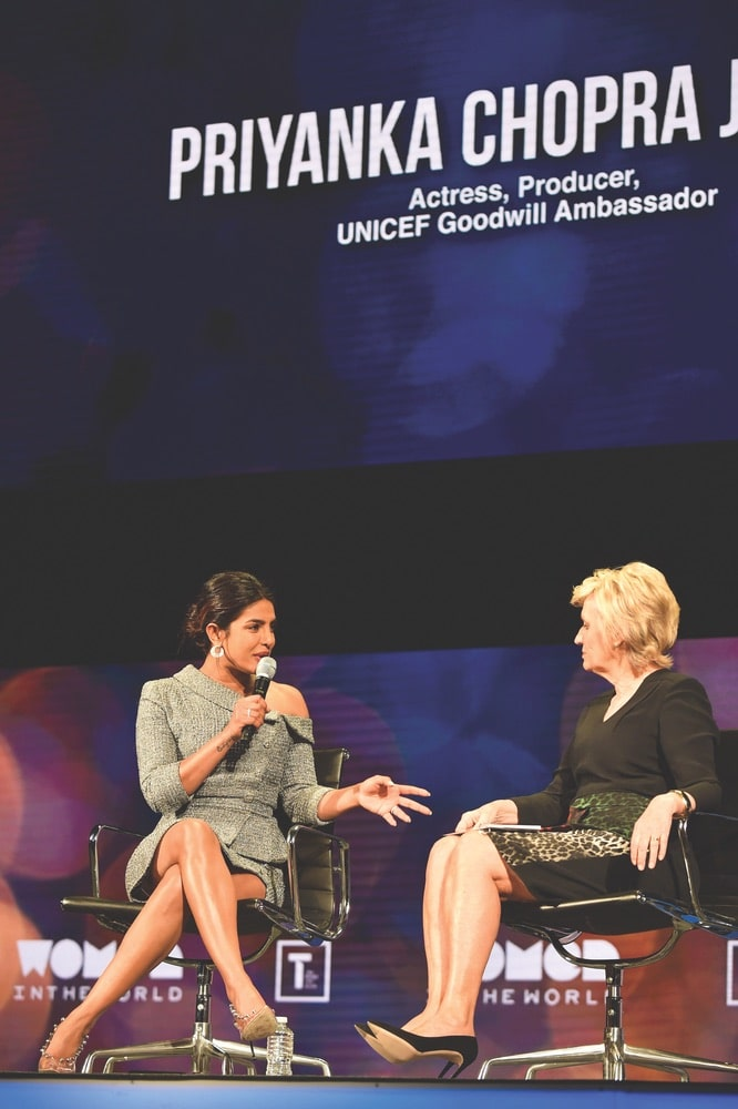 Priyanka Chopra Jonas, Tina Brown, Women in the World Summit