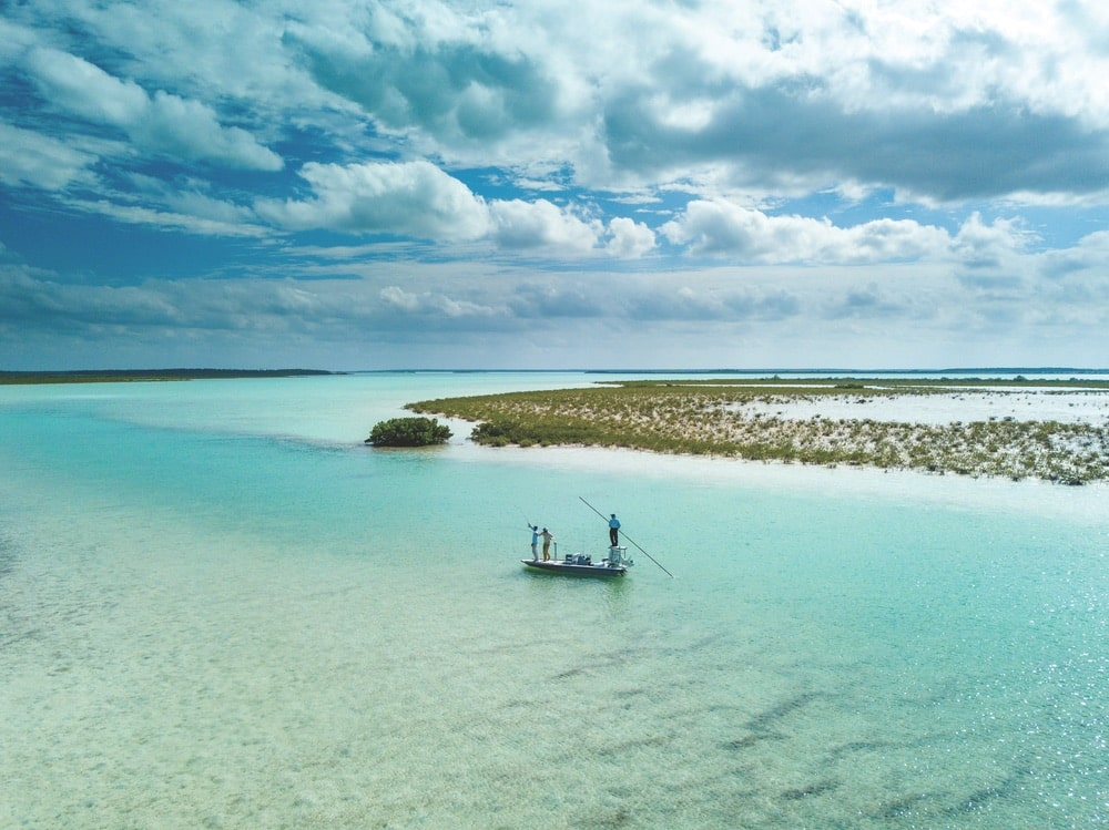 Fishing on Andros Island in the Bahamas with Eleven Mothership's adventure package | Photo courtesy of Eleven Experience