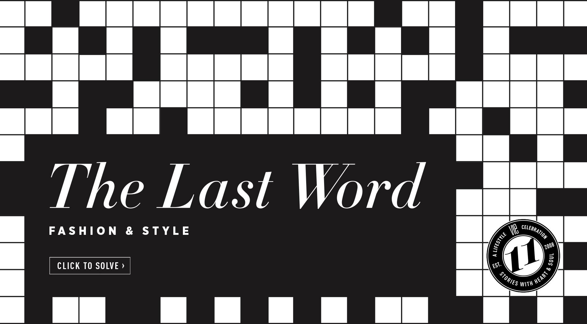VIE Magazine - June 2019 - Fashion Edit - Crossword Puzzle