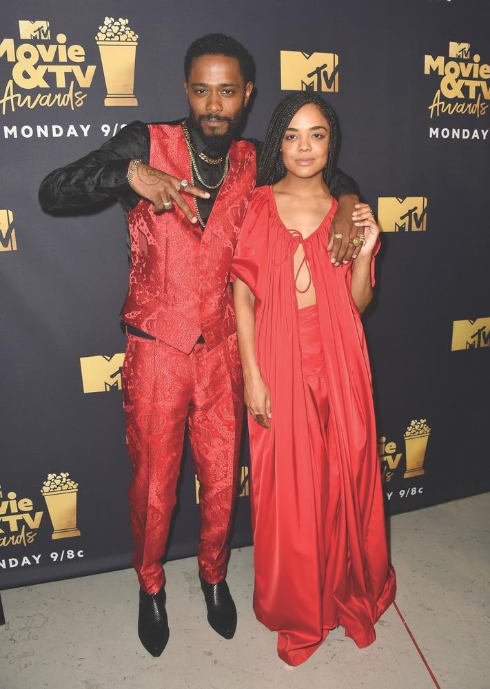 2018 MTV Movie & TV Awards, MTV, Barker Hangar, Santa Monica, California, Getty Images, Lakeith Stanfield, Tessa Thompson