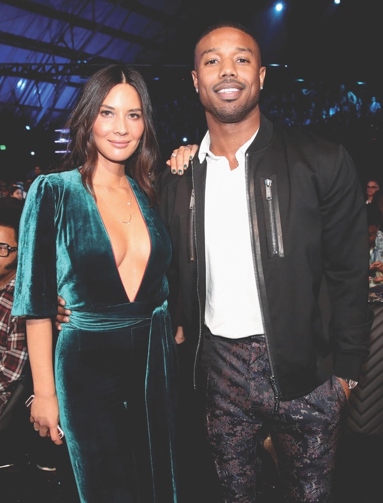 2018 MTV Movie & TV Awards, MTV, Barker Hangar, Santa Monica, California, Getty Images, Olivia Munn, Michael B. Jordan