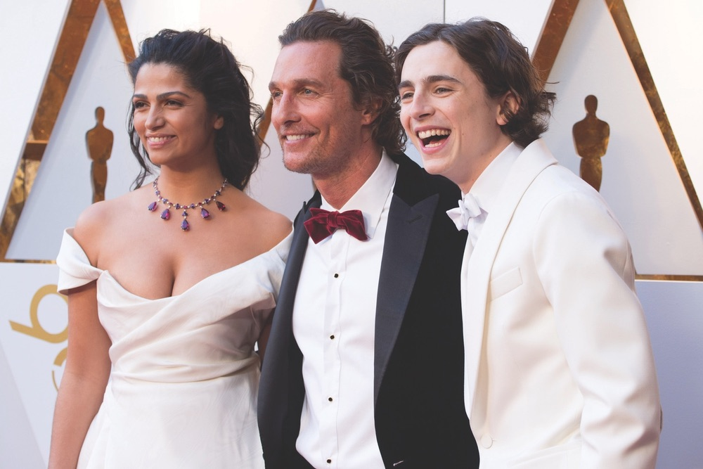Academy Awards 2018, Academy Awards, 90th Academy Awards, The Oscars, Academy of Motion Picture Arts and Sciences, Dolby Theatre, Camila Alves, Matthew McConaughey, Timothée Chalamet
