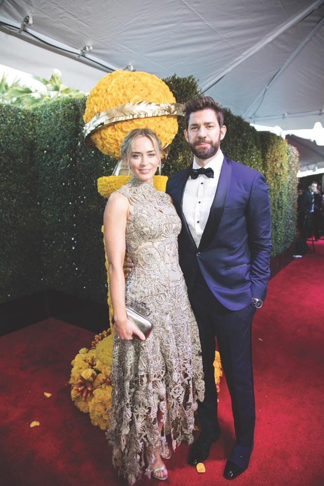 76th Golden Globe Awards, Beverly Hilton, Beverly Hills, Hollywood Foreign Press Association, red carpet, award season, Golden Globes, Emily Blunt, John Krasinski