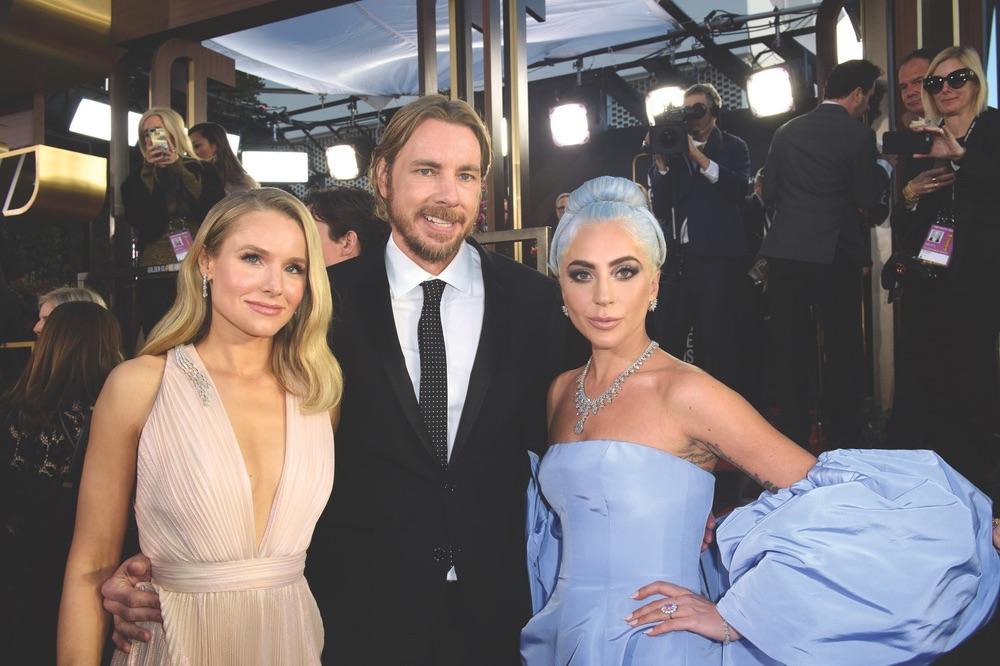 76th Golden Globe Awards, Beverly Hilton, Beverly Hills, Hollywood Foreign Press Association, red carpet, award season, Golden Globes, Kristen Bell, Dax Shepherd, Lady Gaga
