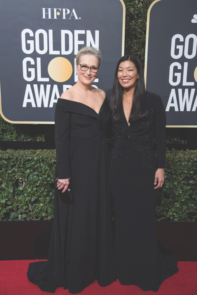 75th Annual Golden Globe Awards, Golden Globe Awards, Beverly Hilton, Beverly Hills, California, Meryl Streep, Ai-jen Poo, National Domestic Workers Alliance, Hollywood Foreign Press Association