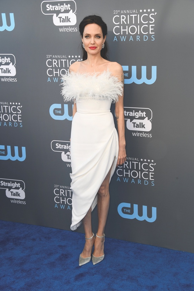 CCA, Arts Culture and Entertainment, celebrities, Fashion, Awards Ceremony, Critics' Choice Awards, Santa Monica, Barker Hangar, 23rd Annual Critics' Choice Awards, California, Getty Images, Angelina Jolie