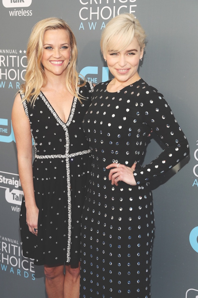 CCA, Arts Culture and Entertainment, celebrities, Fashion, Awards Ceremony, Critics' Choice Awards, Santa Monica, Barker Hangar, 23rd Annual Critics' Choice Awards, California, Getty Images, Reese Witherspoon, Emilia Clarke