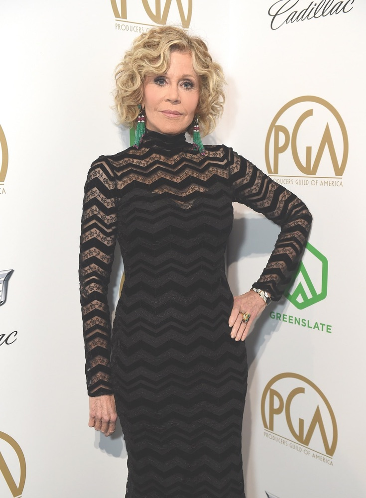 30th Annual Producers Guild Awards, Cadillac, Beverly Hilton, Beverly Hills, Jane Fonda