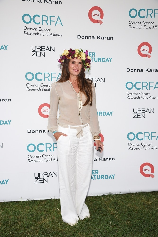 celebrities, Brooke Shields, OCRFA, Ovarian Cancer Research Fund Alliance, Super Saturday, Watermill, New York