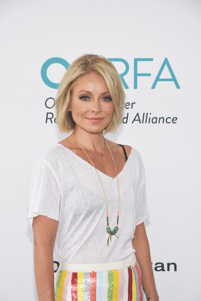 celebrities, Kelly Ripa, OCRFA, Ovarian Cancer Research Fund Alliance, Super Saturday, Watermill, New York
