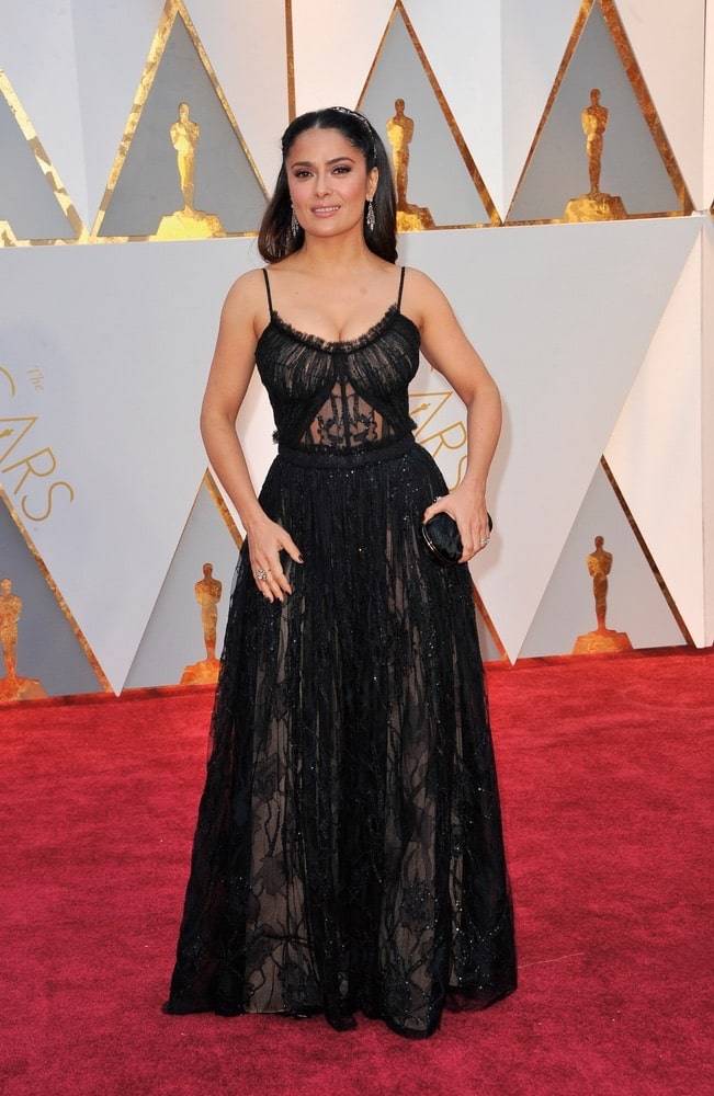 Academy Awards, actress, Alexander McQueen, award season, awards, California, film, Hollywood, Hollywood California, Movies, Oscars, Salma Hayek