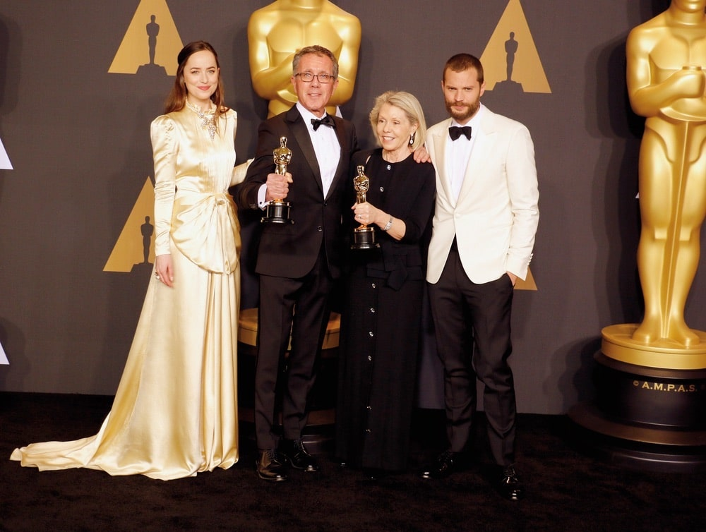 Academy Awards, award season, awards, Best Production Design, California, Dakota Johnson, David Wasco, film, Hollywood, Hollywood California, Jamie Dornan, La La Land, Movies, Oscars, Sandy Reynolds-Wasco