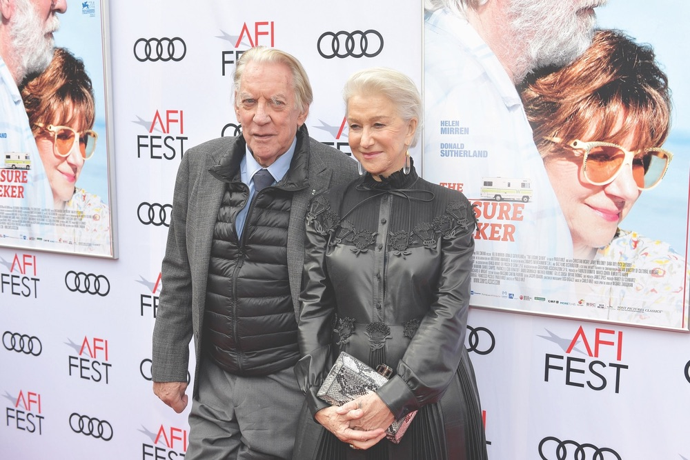 Arts Culture and Entertainment, celebrities, The Leisure Seeker, AFI FEST 2017, Audi, Egyptian Theatre, American Film Institute, Donald Sutherland, Helen Mirren